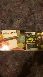 New Nintendo 3ds XL with game