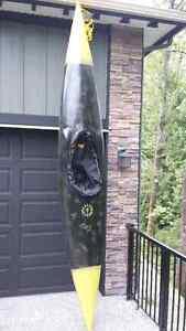 13' Custom Painted Fibreglass Kayak
