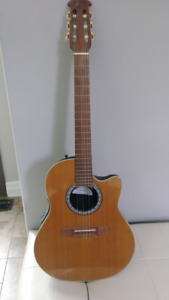 Ovation Nylon String Acoustic/Electric Guitar