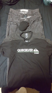 New / slightly used branded jeans and Tshirts.