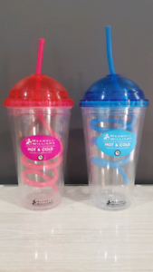 Maxwell Williams HOT/ COLD milkshake cups with  straw 480mL x2 Kyneton Macedon Ranges Preview