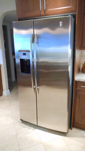 Beautiful Side By Side Stainless Steel Refrigerator