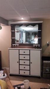 Dresser and antique mirror