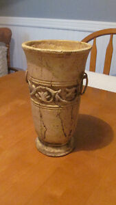 Cut Flower Vase / Urn (antique look)- 10 inches high- never used