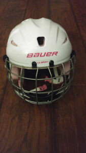 Pink Bauer Lil' SPORT YOUTH hockey helmet (with mask)