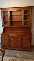 Beautiful Solid maple Vilas Buffet and Hutch
