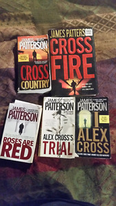5 James Patterson books (alex cross)for trade