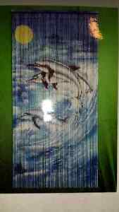 bamboo door decoration dolphin