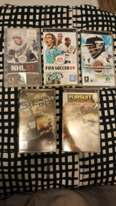 Sony PSP games for sale 5 games for 10$ all together