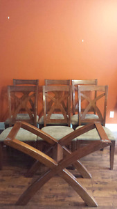 Solid Wood Dining pedestal table and chairs