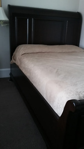 Costco Queen Wood Sleigh Bed Frame