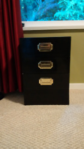 Japanese-style bed side drawers and matching dresser - $60