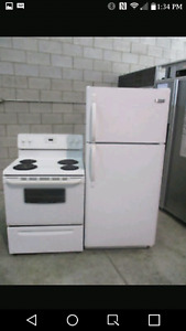 Stove and fridge stackable washer dryer