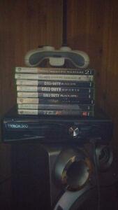 XBOX360 avec 9 jeux et 1 manette
