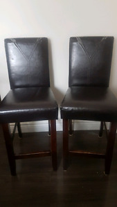 $20 each or Pair for $30  tall chairs (bar height)