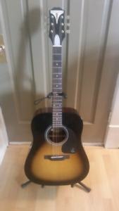 Epiphone pro-1  acoustic guitar with soft case