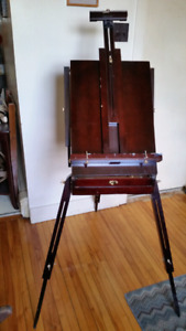 Easel with 2 storage drawers.