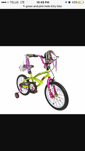 Girls Hello Kitty Bike in excellent condition
