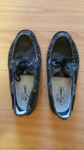New Sperry Topsider Boat Shoes dark grey canvas size 8 mens