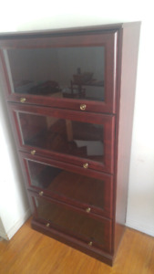 Glass front Barrister bookcase