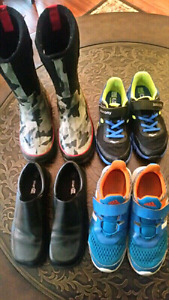 Boys shoes and one pair of boots