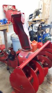 44 inch Toro Wheel Horse snowblower,Rototiller and blade