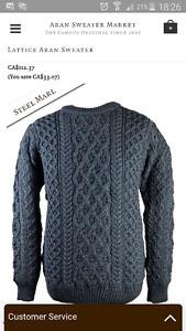 Like New  Irish Aran Sweater