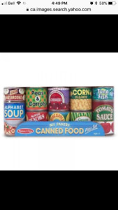 PLAY FOOD CANNED FOOD BRAND NEW