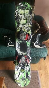 """53"""" snowboard with boots and bindings"""