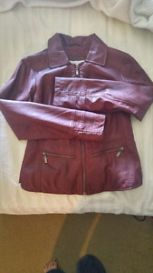Cleo leather look jacket xs