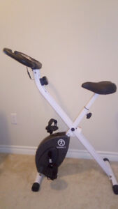 Foldable Exercise Bike with Adjustable Resistance