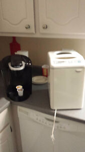 keurig coffee maker and black and decker bread maker