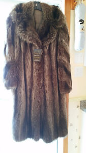 Manteau de chat sauvage, wild cat fur jacket