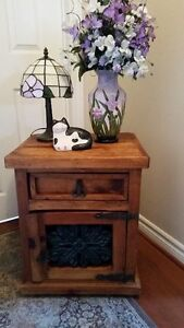 VintageSolid Wood Accent Table
