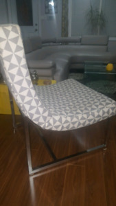 Very stylish accent chair from Bouclair. Light gray in color