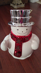 SNOWMAN CANDLE HOLDER LUMINARY - FOR BED & BATH LARGE CANDLES Peterborough Peterborough Area image 1