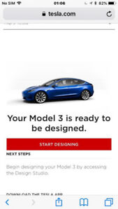 Tesla model 3 reservation ready now