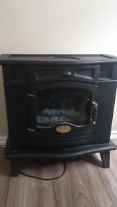 Fake wood burning stove