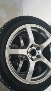 17 inch rims with hankock winter tire