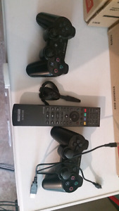 PS3 controls, remote and blu tooth headset
