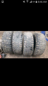 """35"""" tires wore down.. good for a mud truck"""