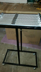 PLAN HOLD MOBILE VERTICAL BLUEPRINT RACK STAND 14 CLAMPS INCL.