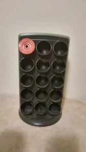 Rotating Coffee Pod Holder with Reusable Coffee Pod