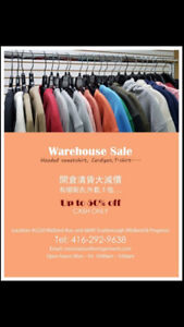 WARE HOUSE SALES IN GTA AREA!!  ACCEPTING RETAIL OR WHOLE SALE!!
