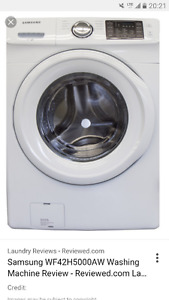 Samsung washer in plastic