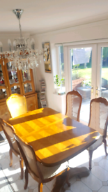 Dining Table and 6 Chairs with Matching Wall Unit