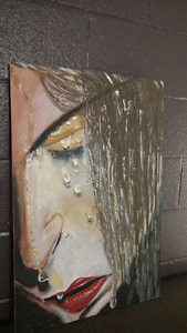 Oil painting for sale....Cry in the shower