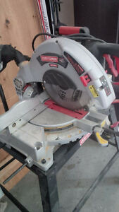 "Craftsman 10"" Compound Miter Saw 3 HP -15 Amp with stand ** Pric"