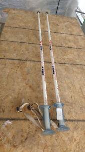 Bâtons de ski de fond et alpins