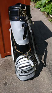 Cooper golf bag with Ts and golf balls